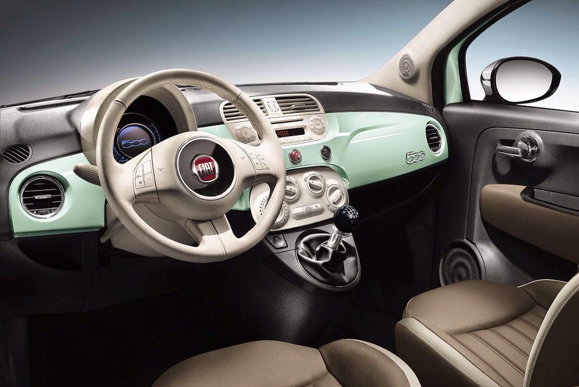 Seafoam Green Dash Fiat 500 Fiat 500 Fiat Fiat Cars