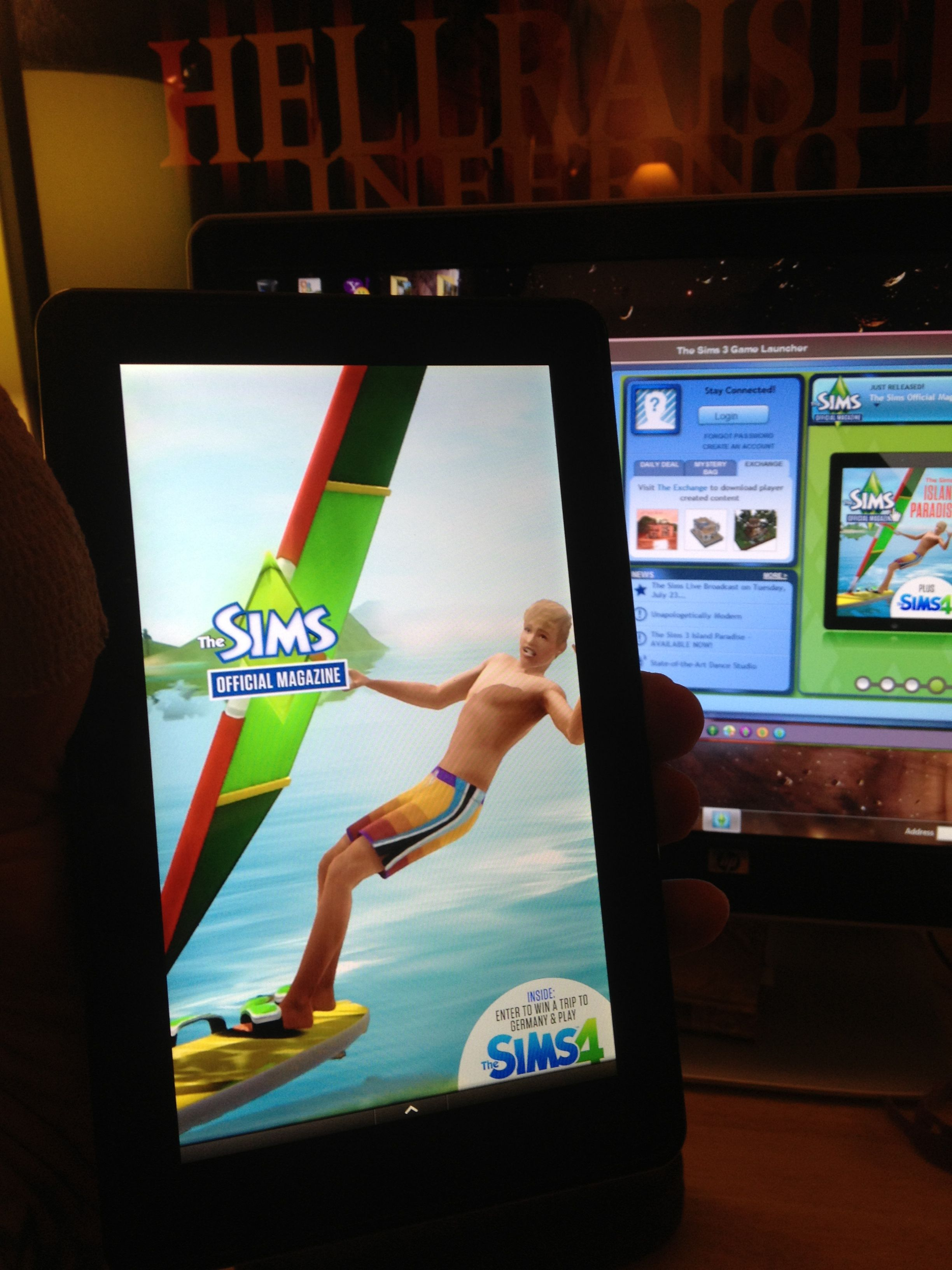 Kindle fire Sims 3 magazine