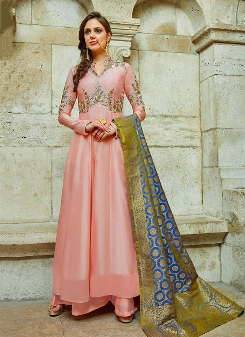 3e1a9433a0 Anarkali: buy online latest designer anarkali suits / long frock suits with  jackets at low prices in india. Find best collection in net frock suit  designs.