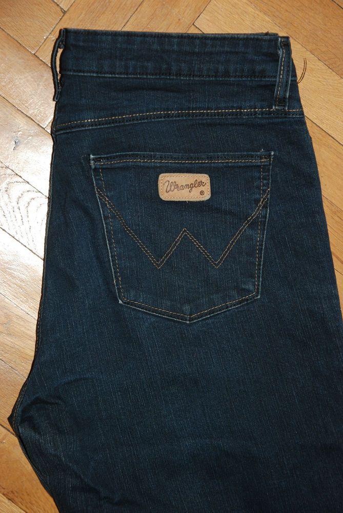 Wrangler Jeans Regular Body Bootcut W 33 L 30 Blue Polyester Indigo Stretch Wrangler Jeans Womens Jeans Wrangler Jeans
