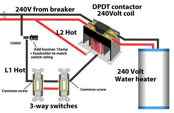 3 Way Switches Control Water Heater Wire Switch Home Electrical Wiring Switches