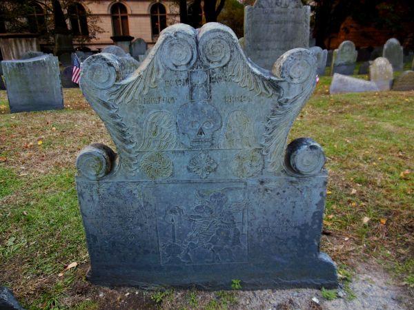 Joseph Tapping's headstone, King's Chapel Burying Ground, Boston