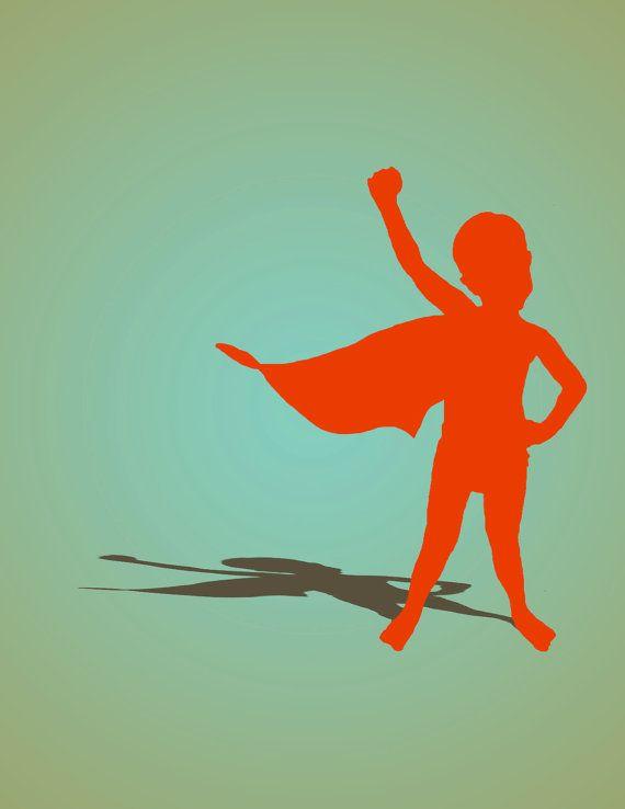 Custom Super Hero Silhouette Of Your Child Superhero Kids Superhero Hero