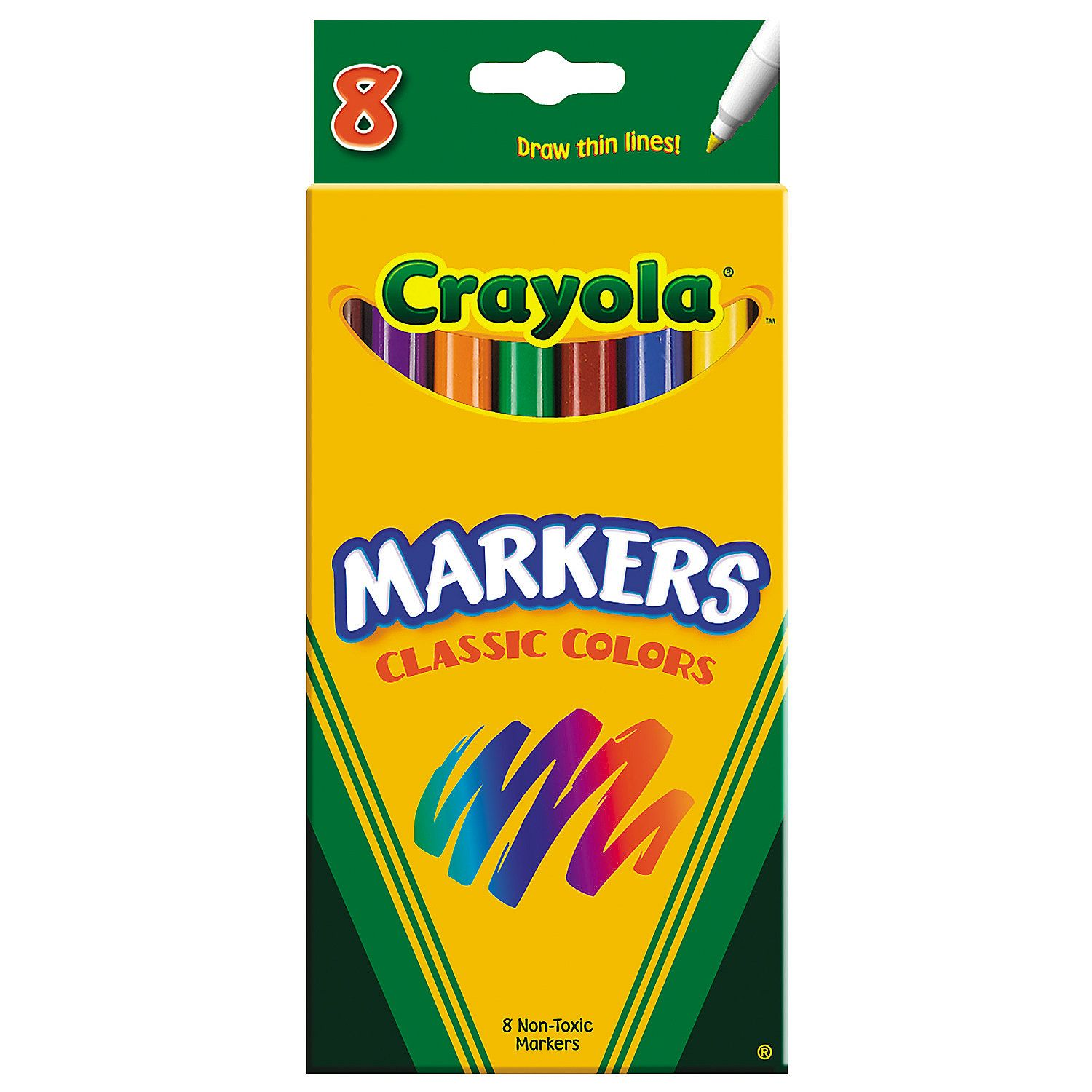 8 Color Crayola Classic Fine Tip Markers Crayola Colored