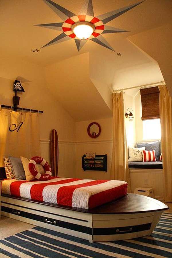 decorare la cameretta: 32 idee camerette a tema mare | nautical ... - Camera Da Letto Tema New York