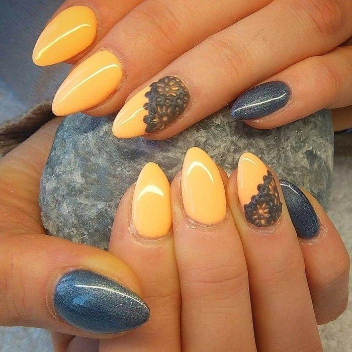 Photo of Fingernails design – nail design autumn in 33 examples