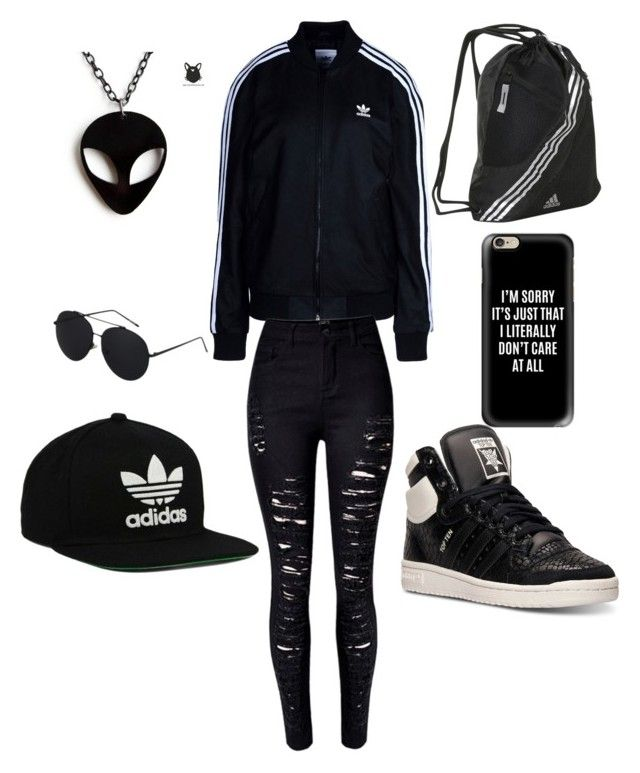 """Adidas"" by omaimamassher on Polyvore featuring adidas Originals, adidas, WithChic and Casetify"