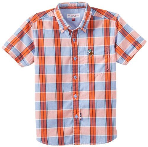 U.S.P.A Kids Boy's Shirts (UKSH5408_Red_4-5 Years) U.S.P.A ...