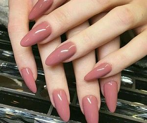 Dusty Rose Mani Almond Acrylic Nails Nails Nail Polish Colors Fall