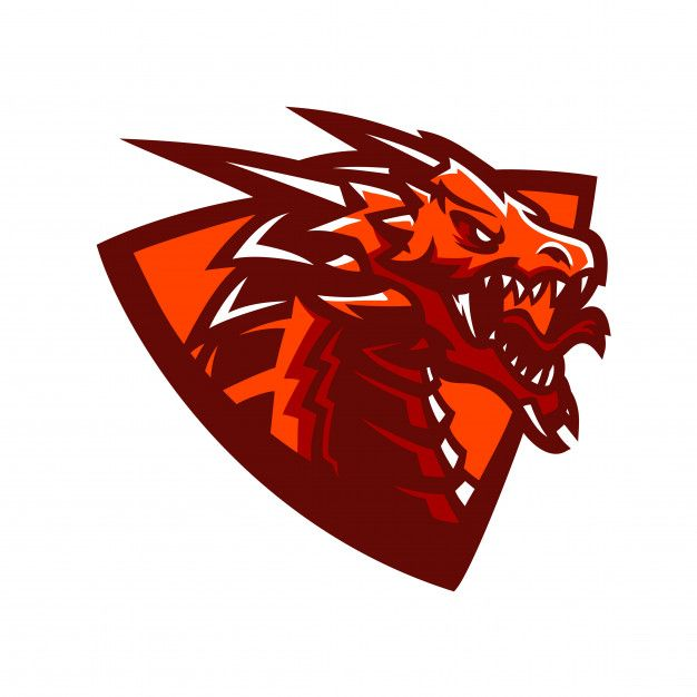 Modelo De Logotipo De Mascote De Jogos Esport De Dragão
