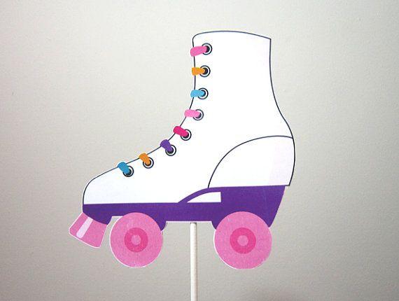 Roller Skate Cake Topper Centerpiece Stick Etsy Roller Skating Party Roller Skate Cake Skate Birthday
