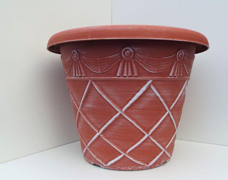 Garden Planter Tuscany Roman Round 33cm Powered Terracotta In 2020 Granite Prices Planters
