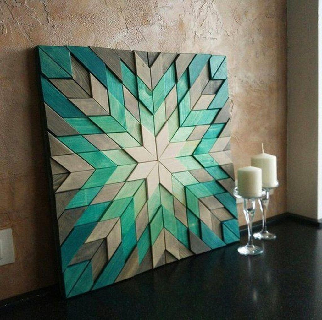 40 Coolest Diy Walldecor Pallets Ideas You Should Not Miss Rengusuk Com Reclaimed Wood Art Wood Art Geometric Art