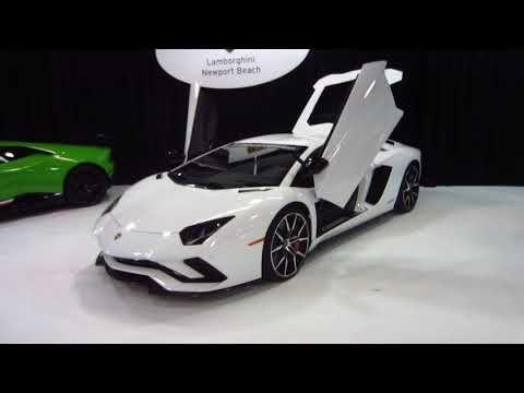 2018 lamborghini orange. Brilliant Lamborghini 2017 OC Auto Show  New 2018 Lamborghini Aventador White Paint Anaheim  Orange County Inside Lamborghini Orange