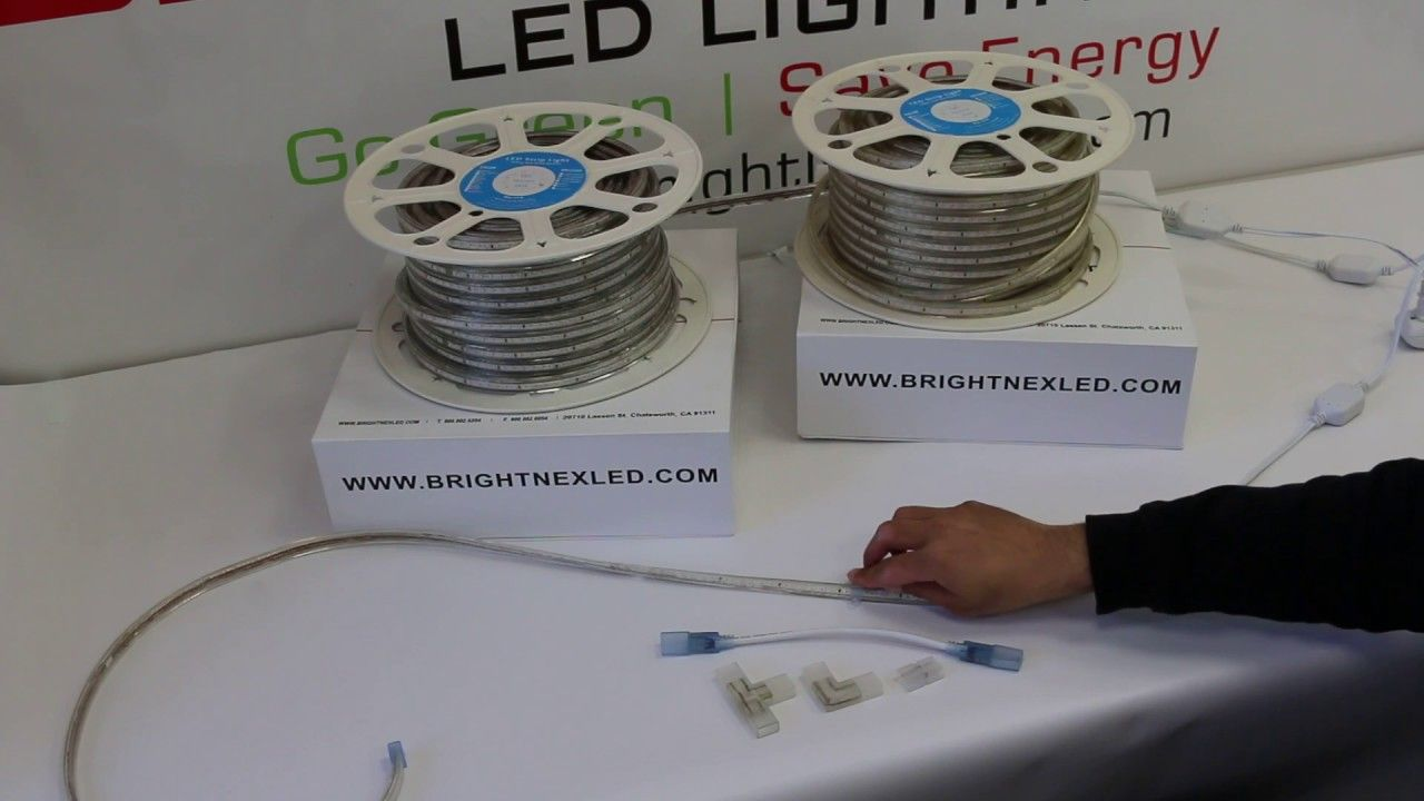 How To Install 110v Led Strip Light Smd3014 Outdoor Plug In Cool White And Warm White Led Wholesaler For More In 2020 Led Strip Lighting Strip Lighting Led Strip