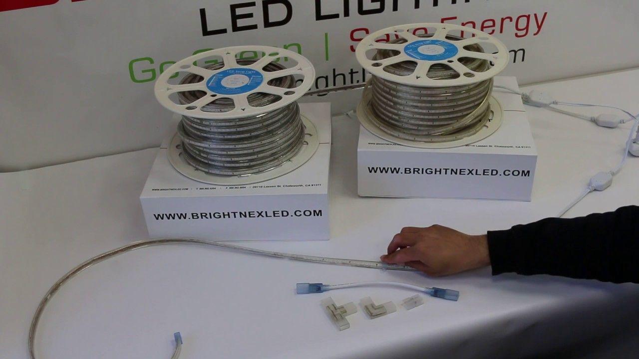 How to install 110v led strip light smd3014 outdoor plug