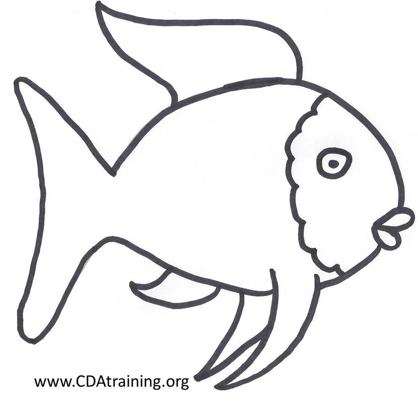 Found Art Fish Coloring Page Rainbow Fish Template Rainbow Fish