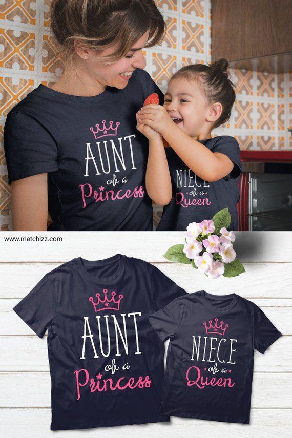 3ebeae1d5 Aunt Niece Shirts Matching Aunt Niece Shirts Aunt Queen #auntgift  #auntshirt #auntandniece #matchingshirts