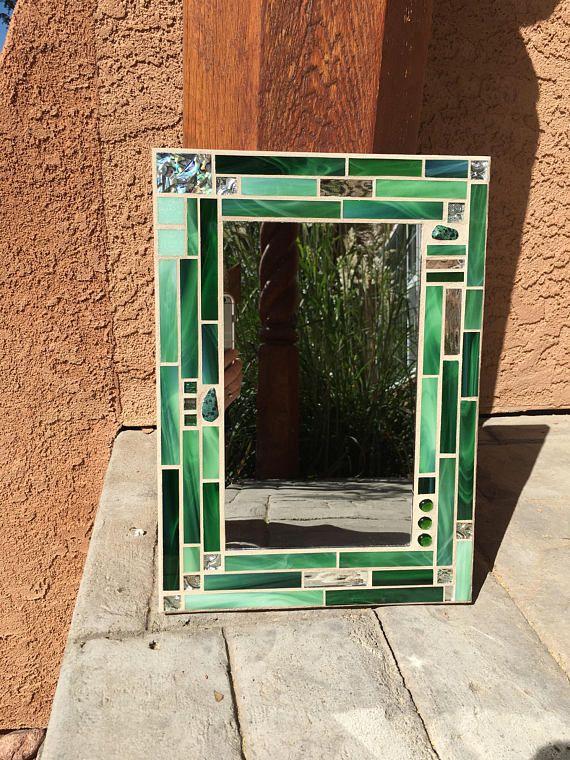 stained glass mosaic mirror mosaic mirror bathroom mirror