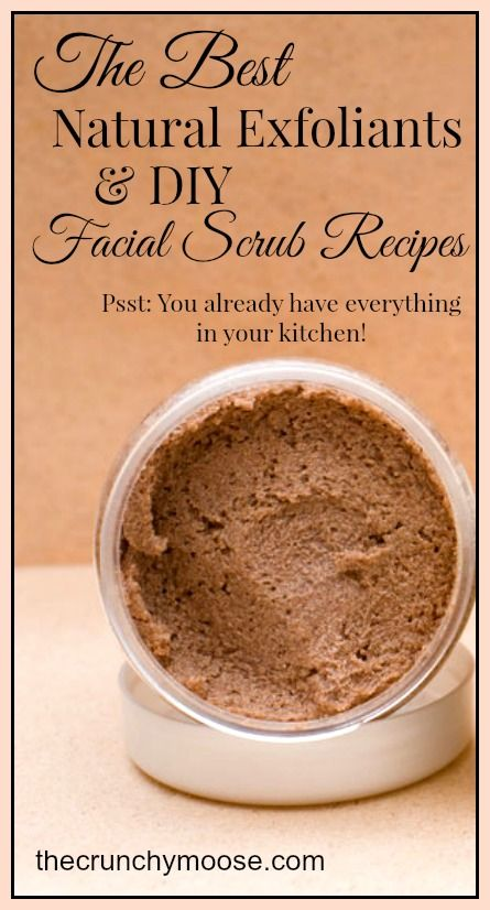 The Best Natural Exfoliants And Diy Facial Scrub Recipes Facial