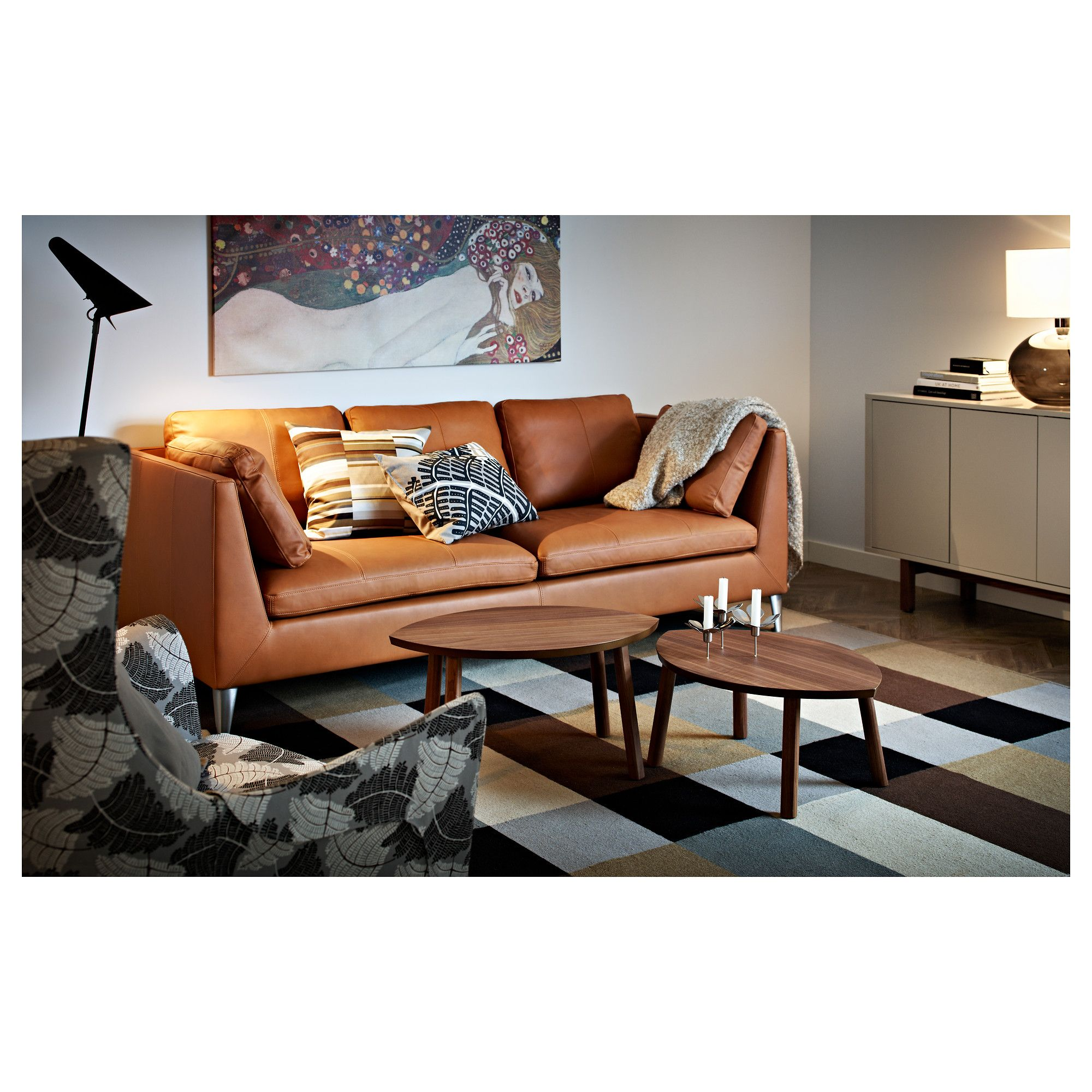 Ikea Stockholm Nesting Tables Set Of 2 Walnut Veneer Canape D Angle Cuir Canape Cuir Et Canape Angle