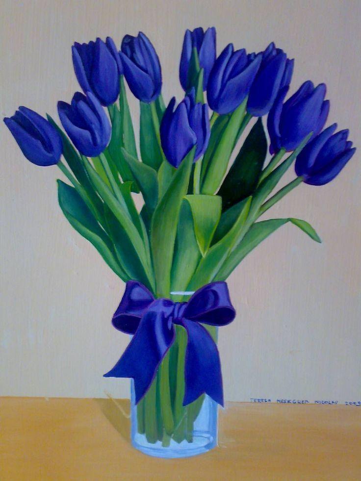 Tulipanes Holandeses Azules Buscar Con Google Flores