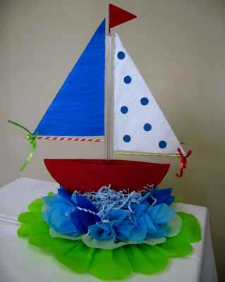 Baby Shower Decorations With Foam | Centerpiece Sail Boat Centerpiece For  Baby Shower Or Even Baby