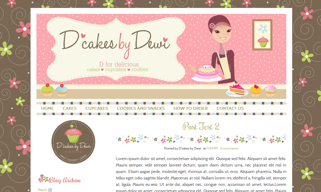 Custom cute blog design food qaseh endah homebake pinterest custom cute blog design food pronofoot35fo Images