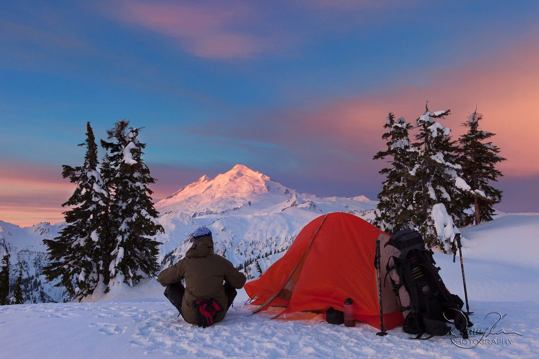 Enjoying the Sunrise on Mt. Baker (WA), by Ding Ying Xu via 500px