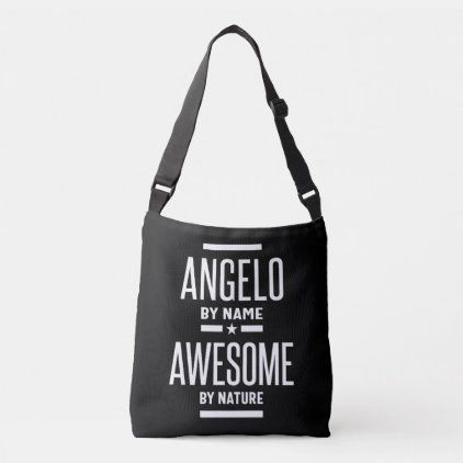 Angelo Personalized Name Birthday Gift Crossbody Bag | Zazzle.com -  Angelo Personalized Name Birthd...
