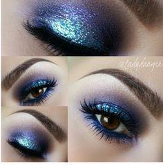 Beautiful midnight blue eyeshadow