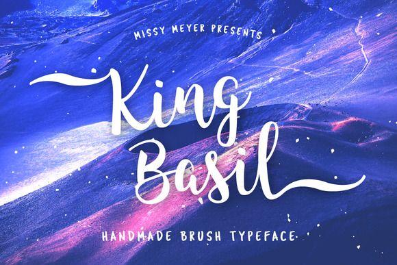 King Basil - full version handmade brush font by missy meyer