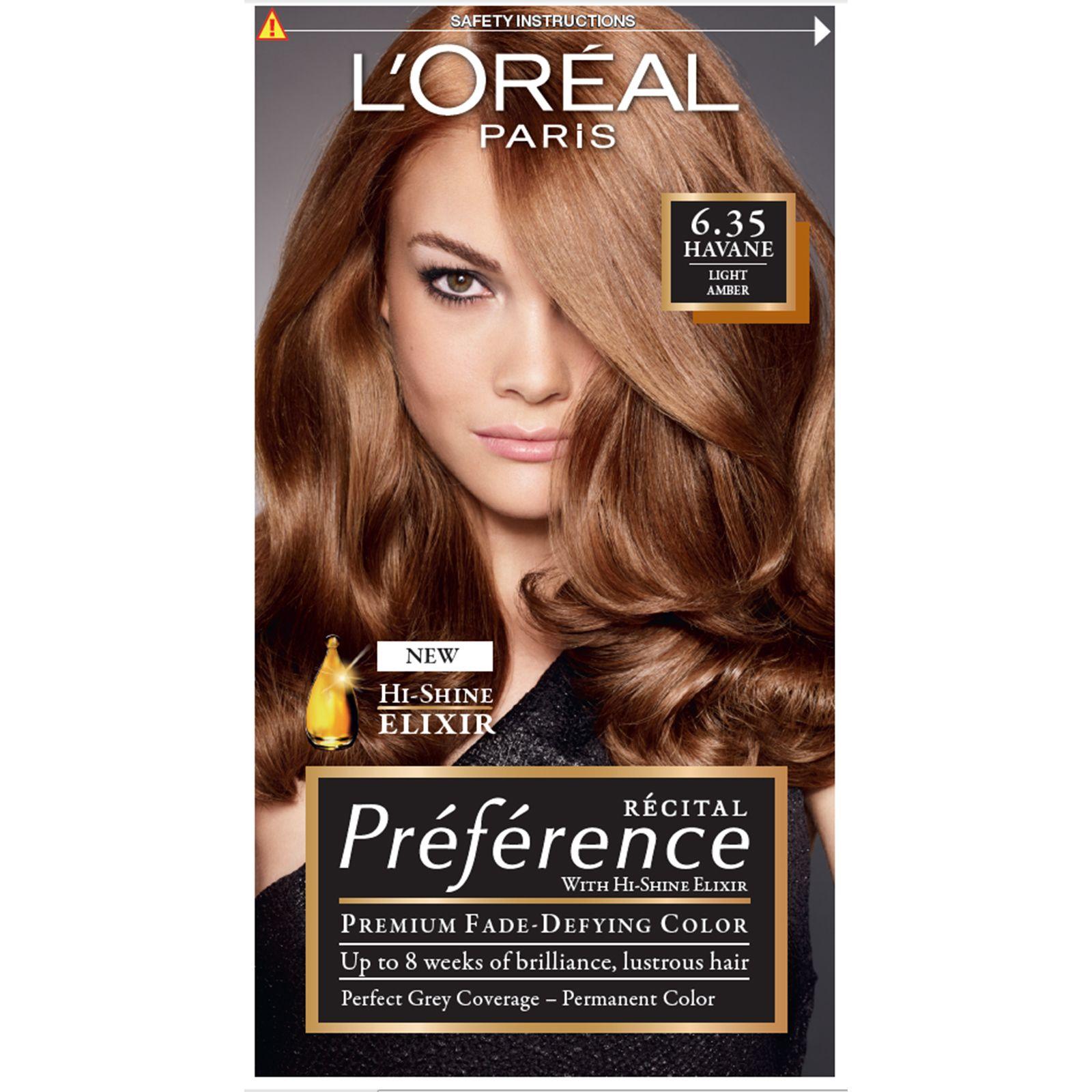 L Oreal Preference 6 35 Havane Lasting Hair Color Hair Color Mahogany Hair Color