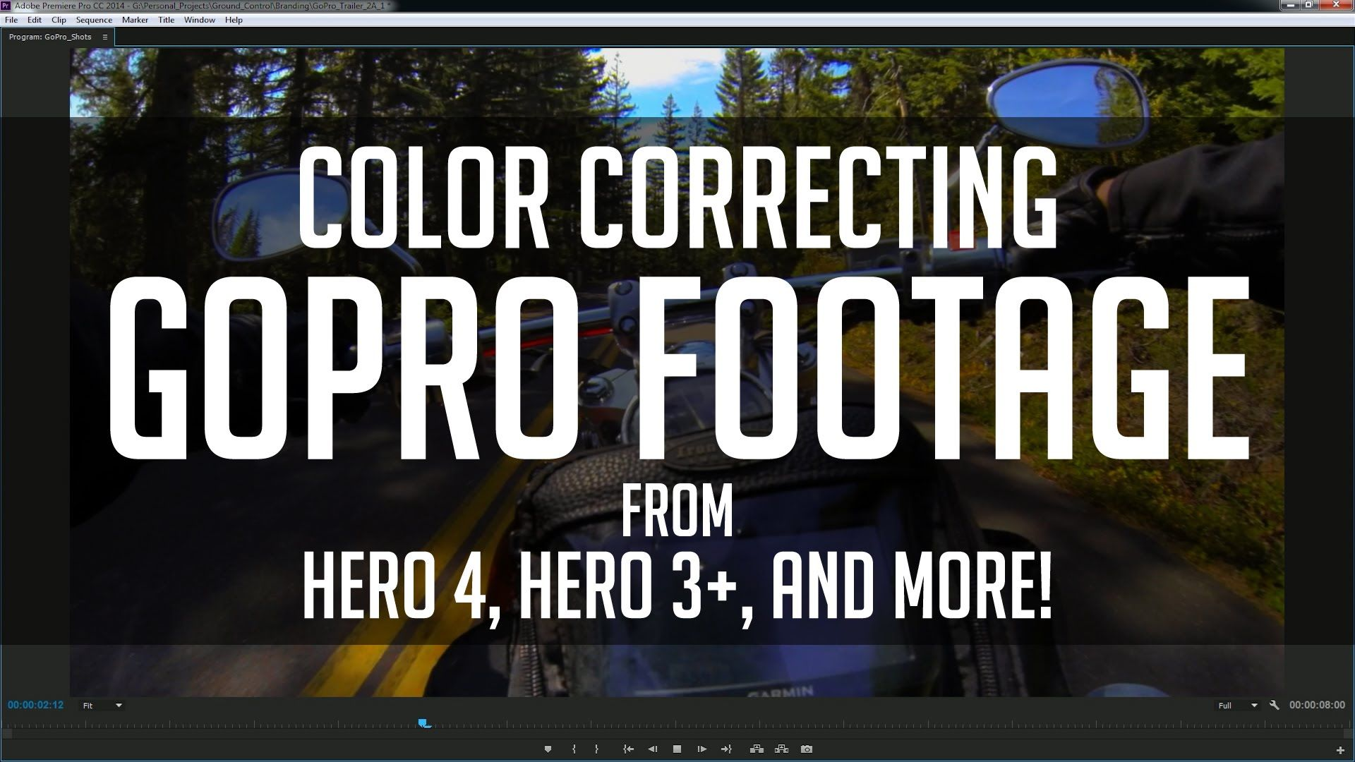 How to Color Grade GoPro Footage Super Fast! - Premiere CC Tutorial ...