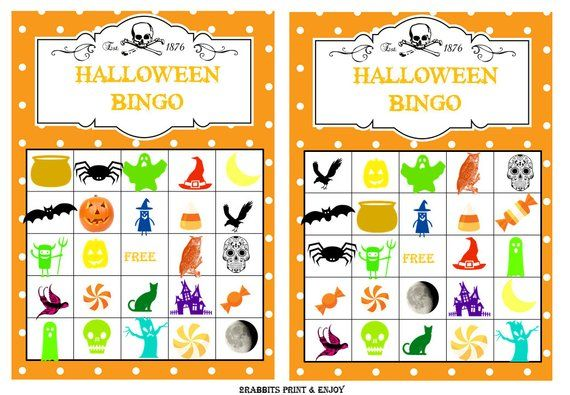 graphic relating to Printable Halloween Bingo Cards known as 20 Printable Halloween Bingo Playing cards Prefilled Halloween Clip