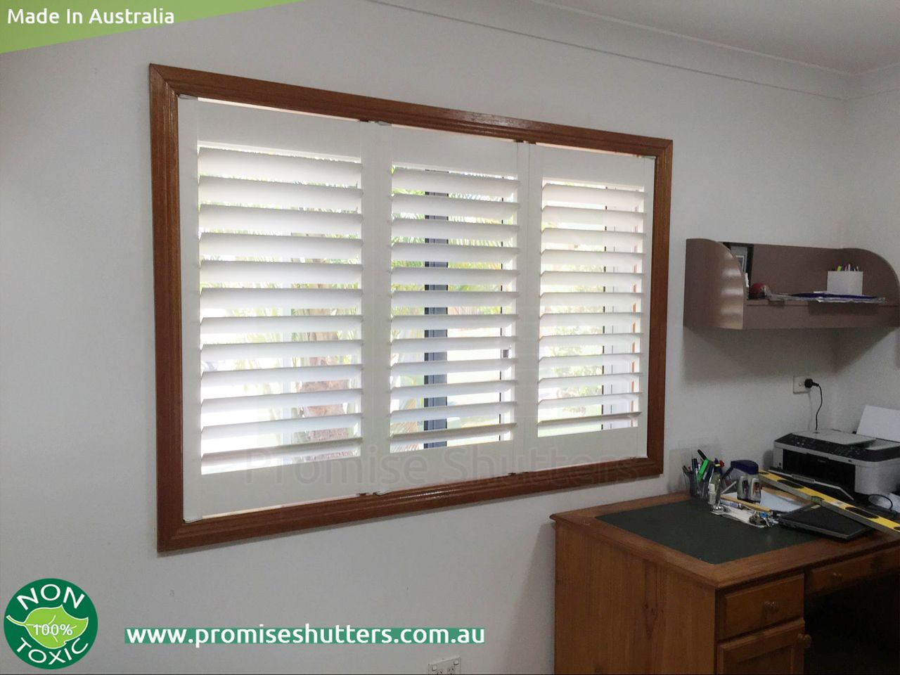 White Solid Vinyl Plantation Shutters With Wood Architrave U0026 Window Shutters  With Added Z Frame+Tpost | PlantationShutters Basswood/Vinyl ...