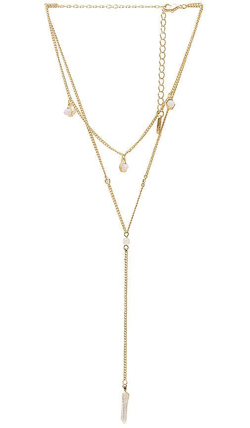 Ettika Stone Choker in Metallic Gold Bqs8v