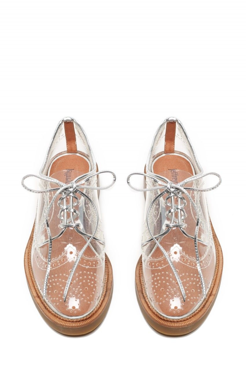 0907b60394c9 Must Haves - Jeffrey Campbell Shoes GERSHWIN Oxfords in Clear Silver ...