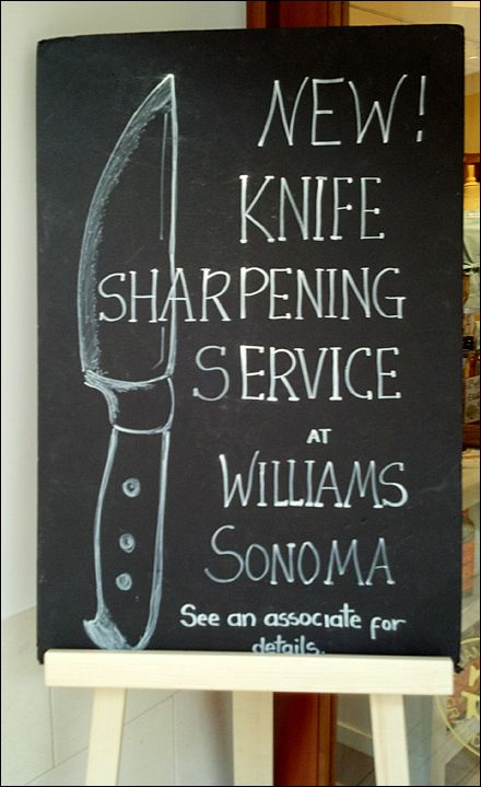 Williams Sonoma Chalkboard At In Sharpening