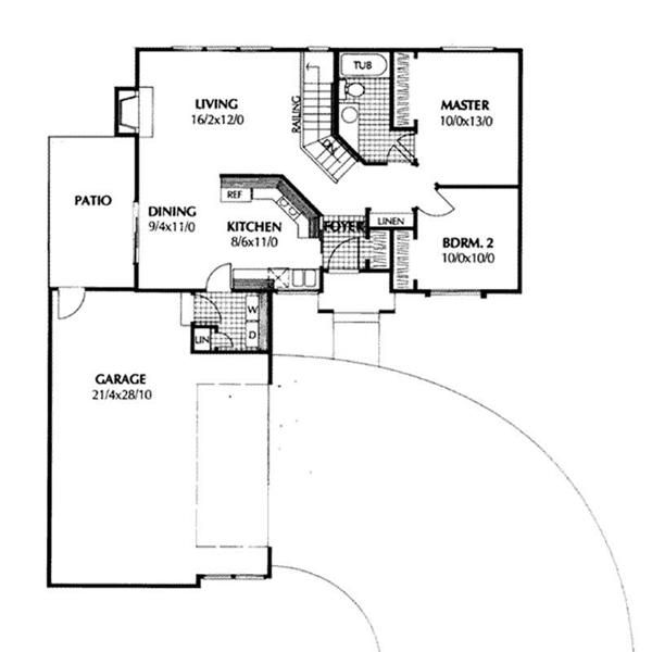 Garage Under House Floor Plans Part - 49: Main Floor Plan-under 1000 Sq Ft Including Garage