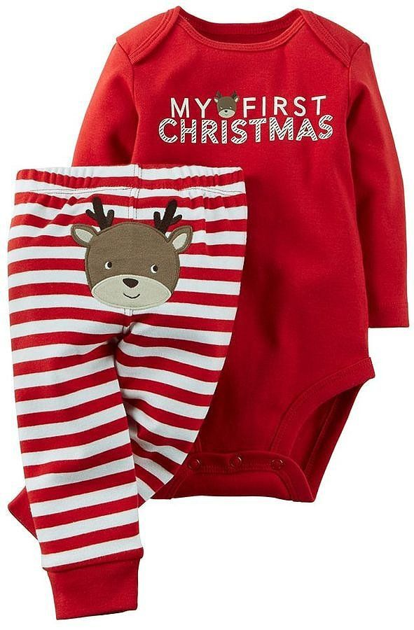 be9721a571d7 62 Adorable Outfits For Baby's First Christmas | Gift Guides | Baby ...