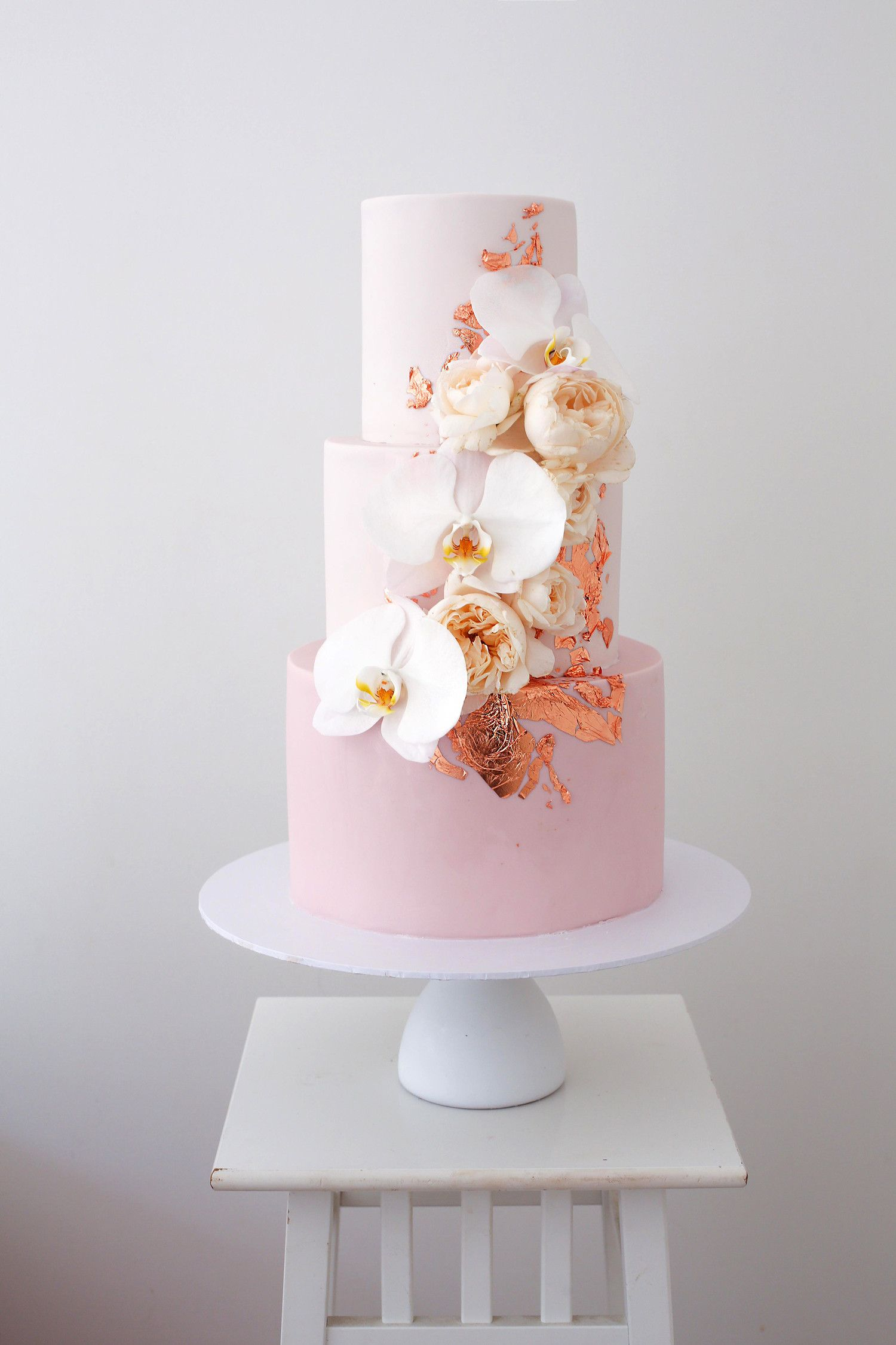 33 Ways To Use Orchids In Every Part Of Your Wedding Orchid Wedding Cake Pink Wedding Cake Modern Wedding Cake