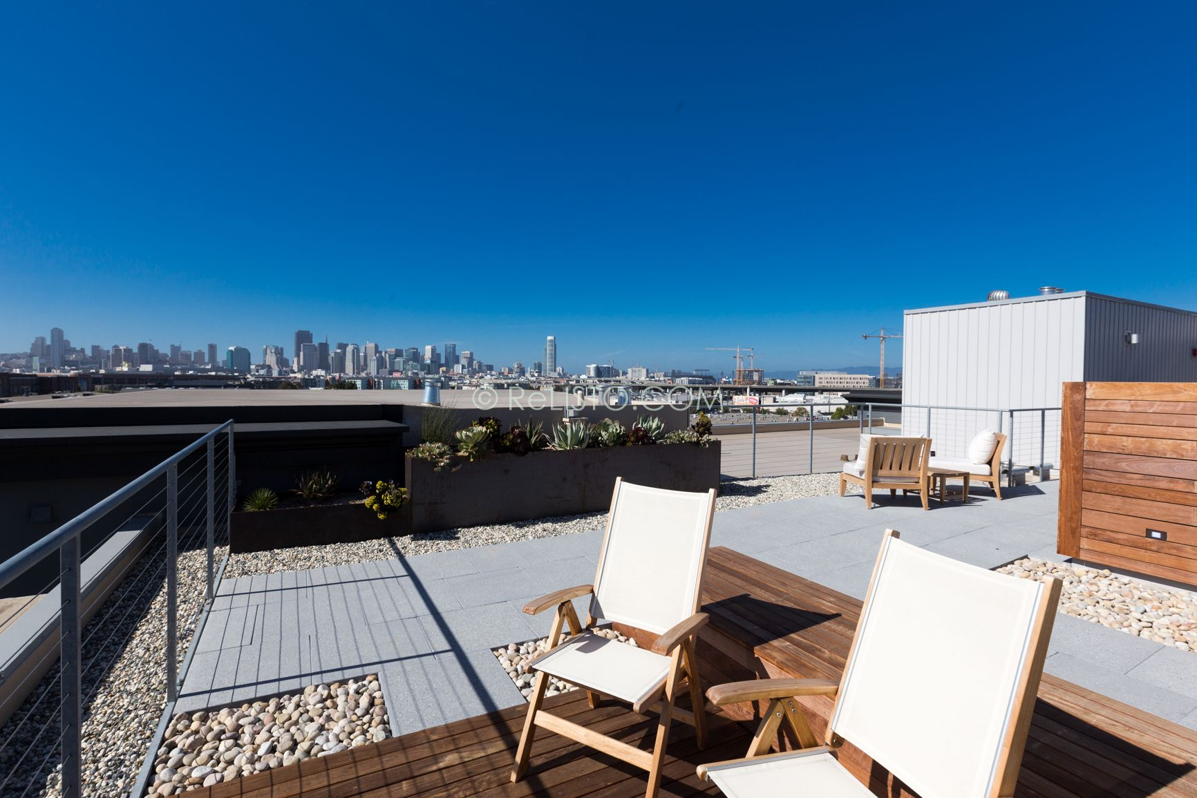 rooftop furniture. Roof Deck With Patio Furniture / Chairs San Francisco- Minimalist Design, Top Rooftop T