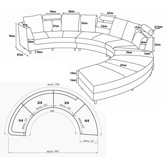 Circular Sectional Sofa Or Bench Dimensions Living Room Sofa Design Modern Furniture Living Room Round Sofa