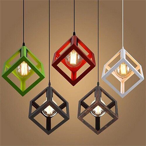 Geometric Pendant Light Ambient Light Metal Mini Style 110-120V / 220-240V Warm White Bulb Not Included / E26 / E27 2019 - € 31.24 #pendantlighting