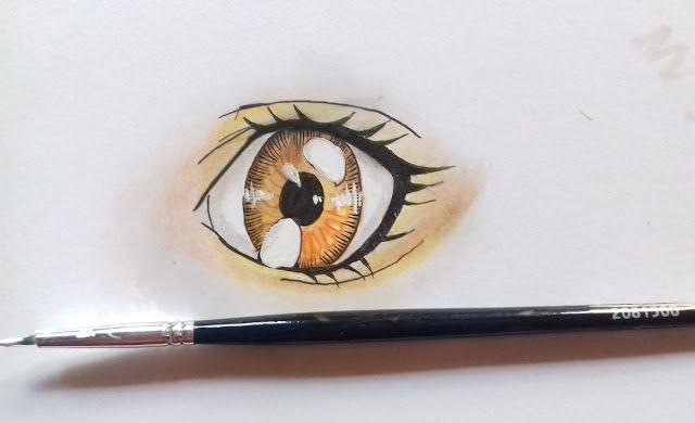 Mewarnai Mata Anime Dengan Pensil Warna Simpel Dengan Gambar
