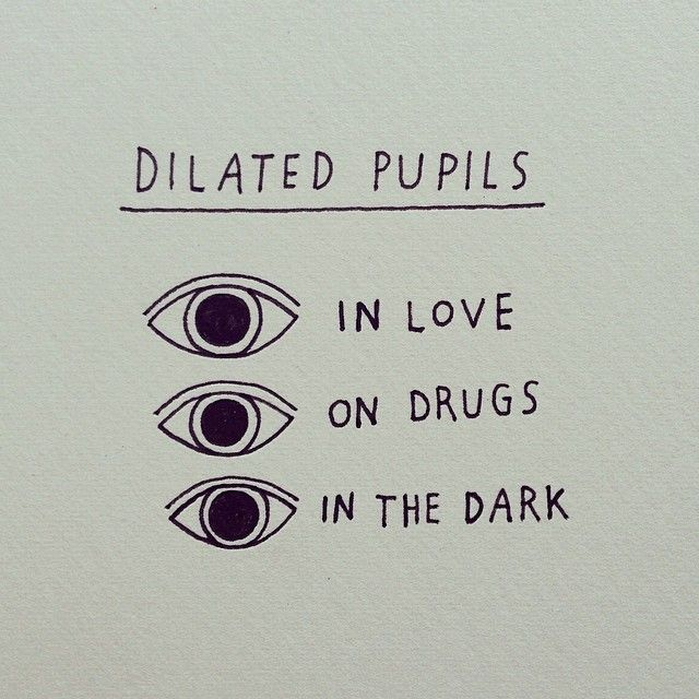 how to tell when pupils dilate