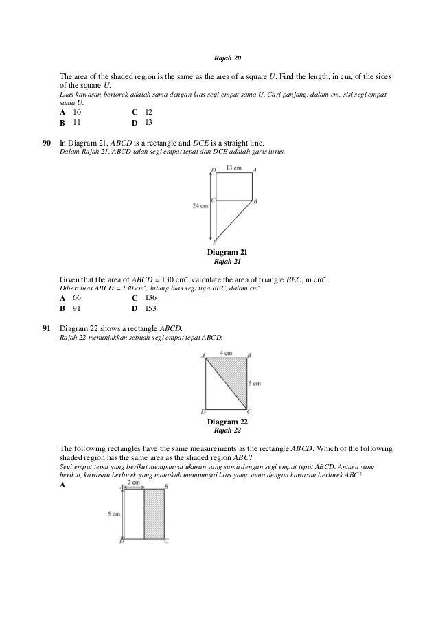 100 soalan Matematik Ting1   Math, Lias, Sanna