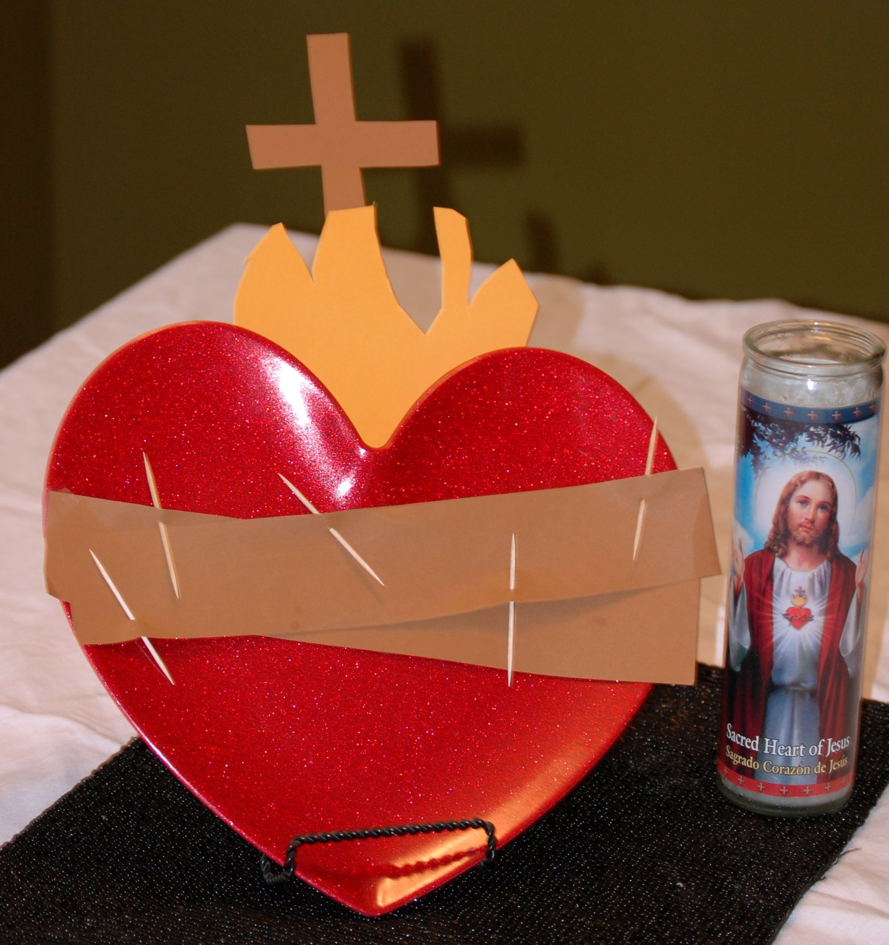 Sacred Heart Of Jesus Centerpiece Heart Plate Mine Is