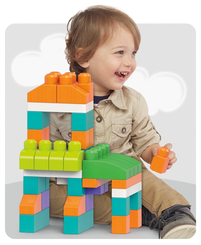 Mega Bloks First Builders Big Building Bag, 80-Piece (Trendy) by